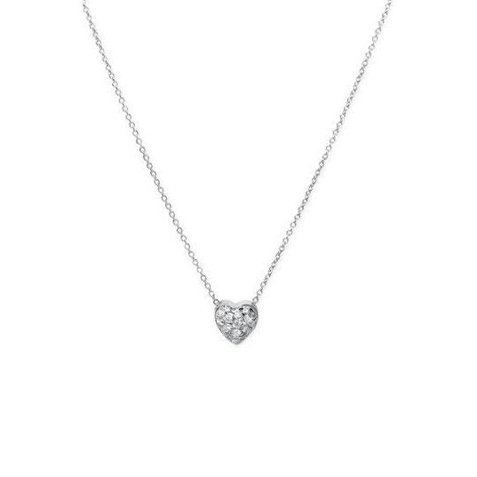 1 Carat Round Brilliant Cut Heart Style Pendant Necklace Pendant