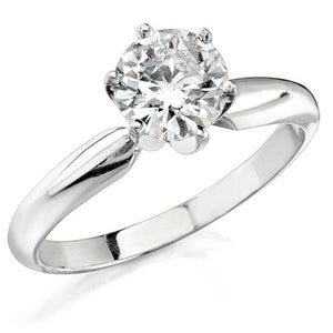 1 Carat Round Brilliant Cut Solitaire Diamond Wedding Anniversary Ring Solitaire Ring