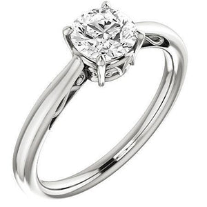1 Carat Round Cut Diamond Prong Set Solitaire Engagement Ring Solitaire Ring