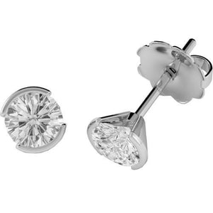 1 Carat Round Cut Solitaire Diamond Stud Earring 14K White Gold Stud Earrings