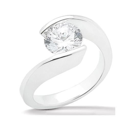 1 Carat Round Diamond Solitaire Ring White Gold 14K Jewelry Solitaire Ring