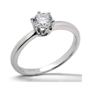 1 Carat Round Diamond Solitaire Ring White Gold F Vs1 Solitaire Ring