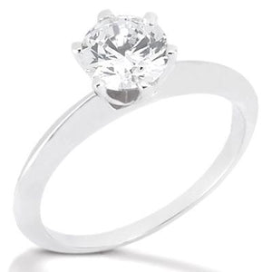 1 Carat Round Diamond Solitaire White Gold Ring F Vs1 Jewelry Solitaire Ring