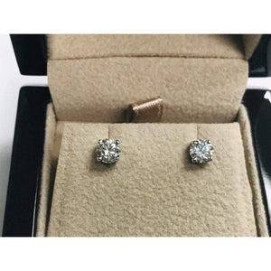 1 Carat Round Diamond Stud Earrings Stud Earrings
