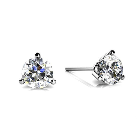 1 Carat Round Diamond Women Stud Earring White Gold 14K Stud Earrings