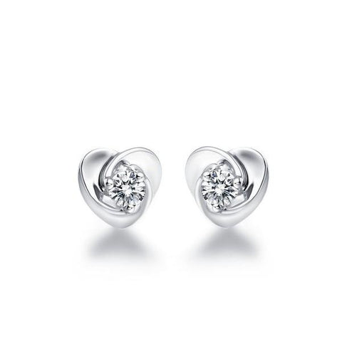 1 Carat Round Shaped Diamond Stud Earring Gold Fine Jewelry Stud Earrings