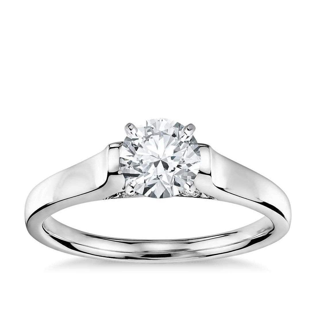 1 Carat Round Solitaire Diamond Engagement Ring Gold Jewelry Solitaire Ring
