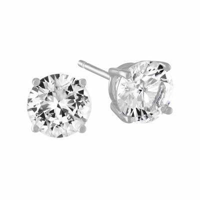 1 Carat Solitaire Round Cut Diamond Stud Earring White Gold 14K Stud Earrings