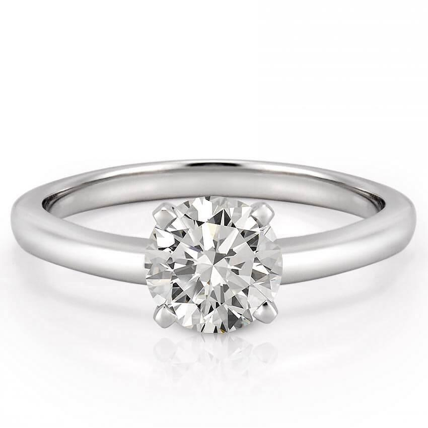 1 Carat Solitaire Round Cut Diamond Wedding Ring White Gold 14K Solitaire Ring
