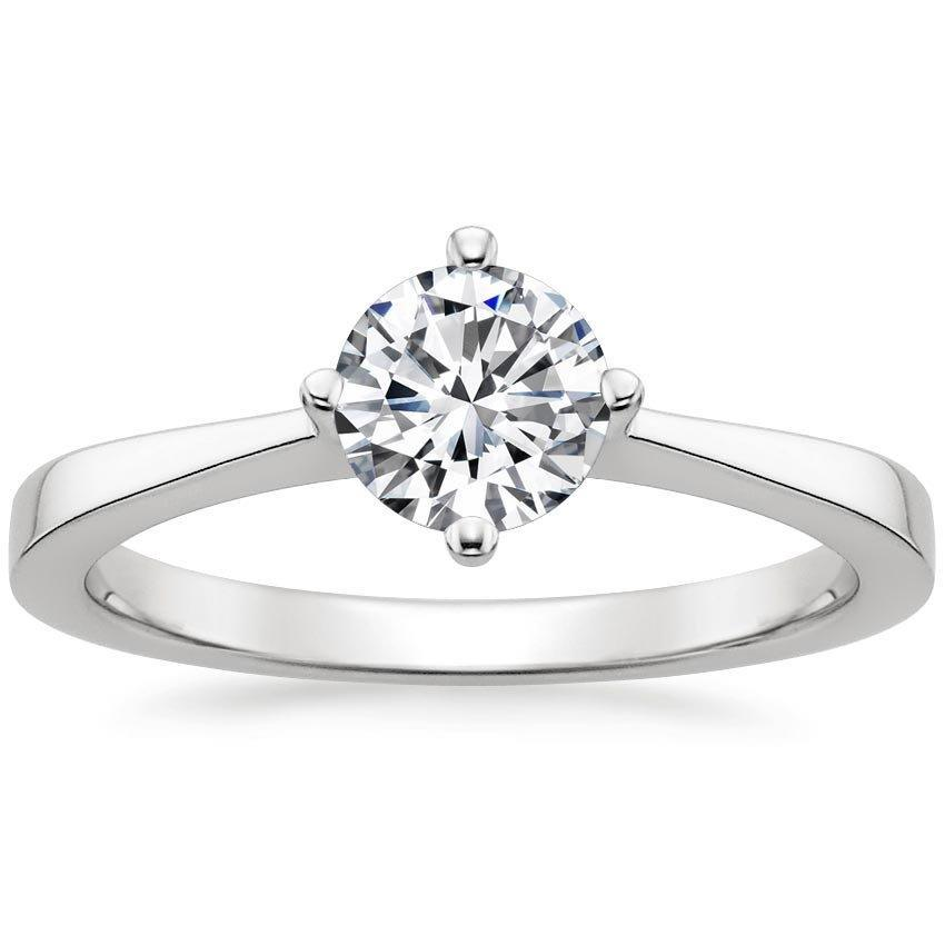 1 Carat Solitaire Round Cut Diamond Wedding Ring Solitaire Ring