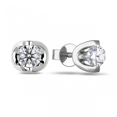 1 Carat Sparkling Round Cut Diamonds Studs Earrings 14K White Gold Stud Earrings