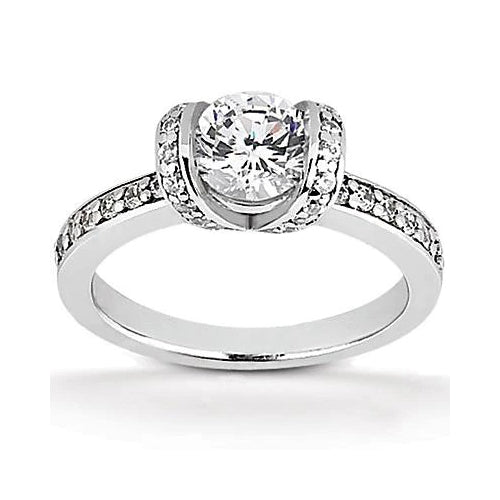 Solitaire Ring 1.76 Ct. Bezel Setting Diamonds Solitaire Ring