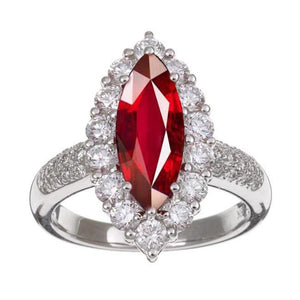 10 Ct Red Ruby Marquise Cut With Diamond Ring Gold Gemstone Ring