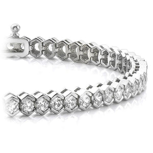 10 Ct Round Cut Diamond Tennis Bracelet White Gold 14K Fine Jewelry Tennis Bracelet