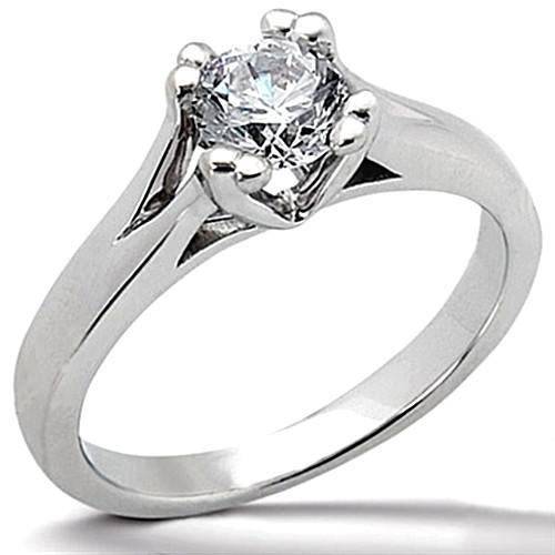 1.01 Ct. F Vs1 Round Diamond Solitaire Ring White Gold 14K New Solitaire Ring