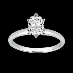 1.01 Ct Oval Cut Diamond Solitaire Ring Solitaire Ring