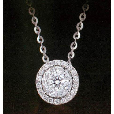 1.07 Ct Diamond Pendant Necklace With Chain Pendant