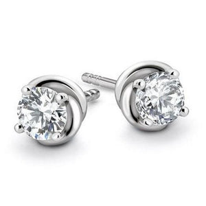 1.1 Ct Prong Set Round Solitaire Diamond 14K White Gold Women Stud Earring Stud Earrings
