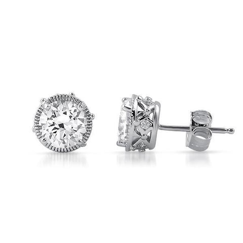 1.1 Ct Round Cut Diamond Stud Earring Stud Earrings