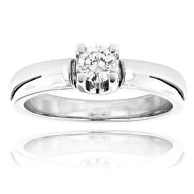 1.1 Ct Solitaire Prong Set Round Cut Diamond Wedding Ring Solitaire Ring