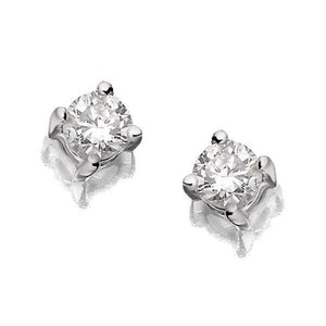 1.10 Carats Diamond Stud Earring Four Prong Setting Brilliant Cut Gold Jewelry Stud Earrings