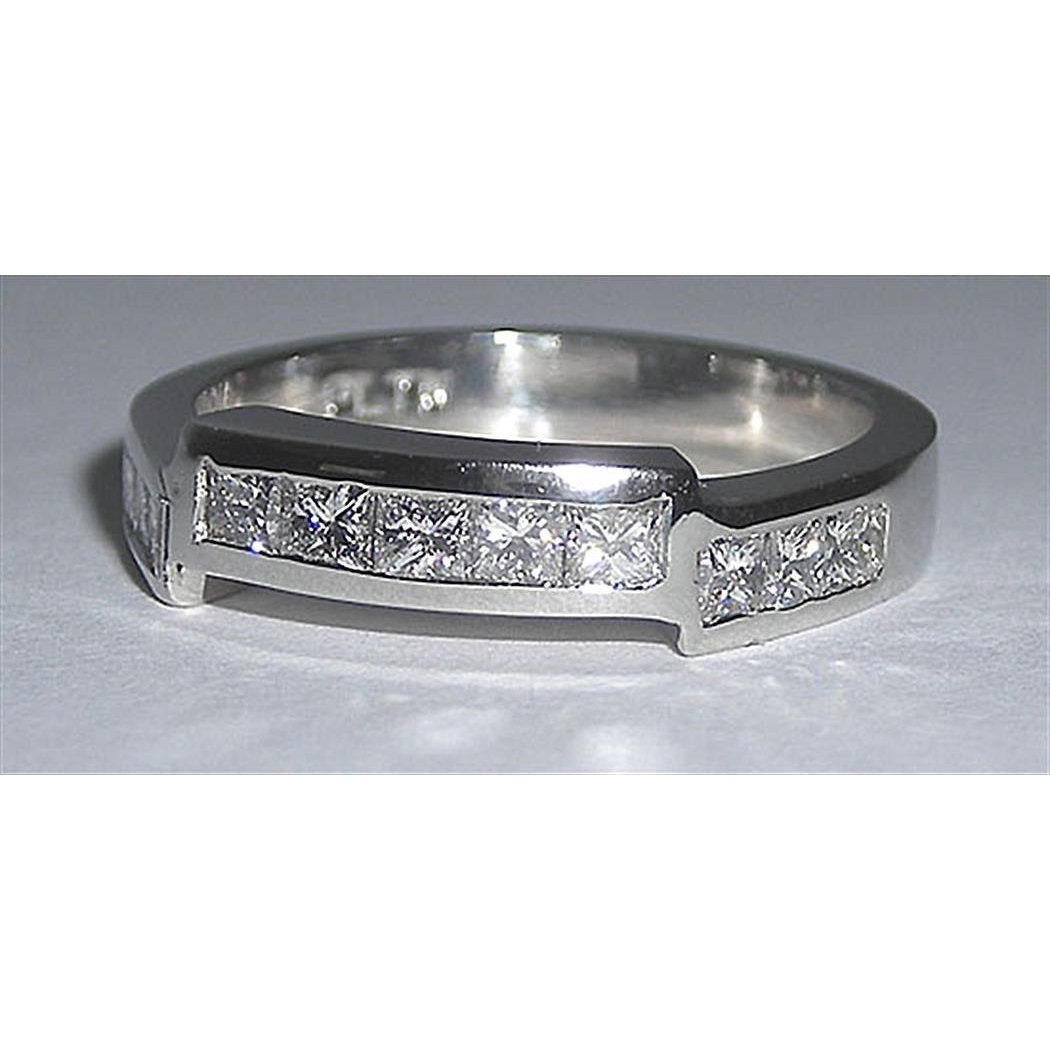 1.10 Ct. Gorgeous Platinum High Quality Diamond Band Half Eternity Band