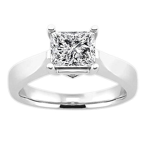 1.11 Carat Diamond Solitaire Engagement Ring H Si1 Princess Diamond Solitaire Ring