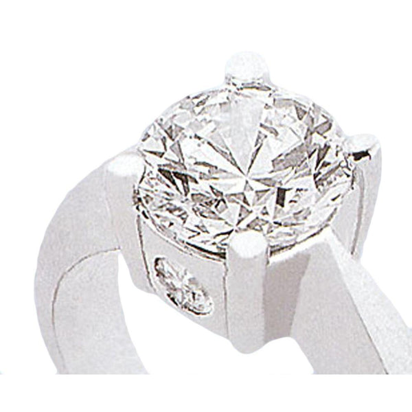 1.12 Carat Diamond Three Stone Ring White Gold Three Stone Ring