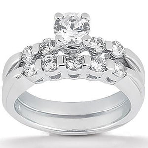 1.15 Ct. Diamonds Engagement Set Gold Diamond Ring New Engagement Ring Set