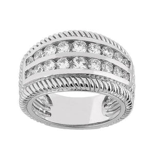 1.16 Ct. Diamonds Right Hand Ring Anniversary Ring Gold Mens Ring
