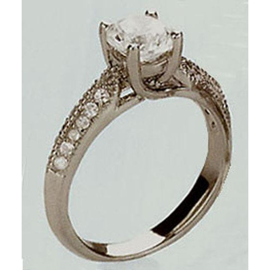 0.5 Ct 33 Diamond Solitaire Engagement Ring