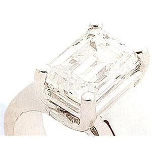 1/2 0.5 Carat Diamond Solitaire Ring Emerald Cut Gold Solitaire Ring