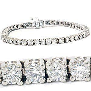 12 Carats Diamonds Tennis Bracelet Round Brilliant Diamonds Tennis Bracelet