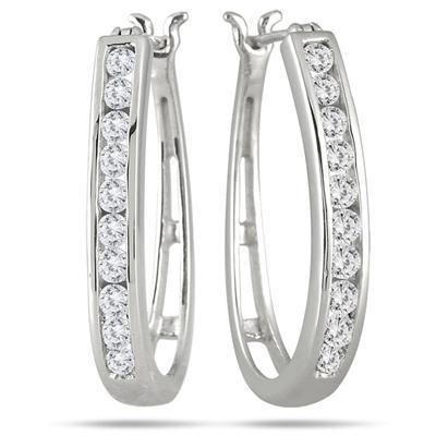 1.2 Ct Round Brilliant Cut Diamonds Women Hoop Earring Hoop Earrings