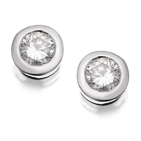 1.2 Ct Round Cut Diamond Stud Earring White Gold Stud Earrings