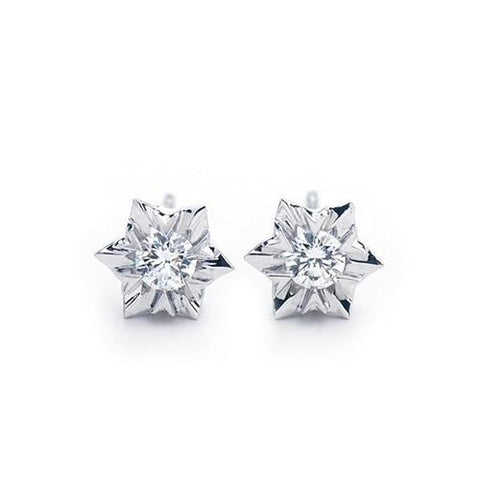 1.2 Ct Round Diamond Stud Earring 14K White Gold New Stud Earrings