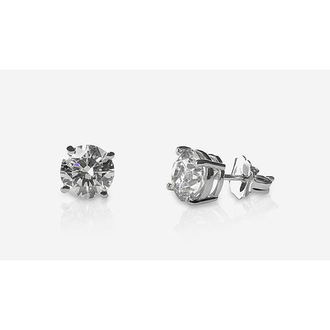 1.2 Ct Round Diamond Stud Earring 14K White Gold Stud Earrings
