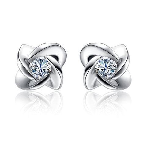 1.2 Ct Round Diamond Women Stud Earring 14K White Gold Stud Earrings
