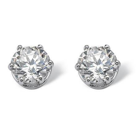 1.2 Ct Solitaire Prong Set Round Diamond Stud Earring Stud Earrings