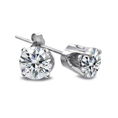 1.20 Carats Stud Diamond Earring Ladies Gold Fine Jewelry Stud Earrings
