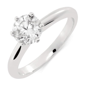 1.20 Ct Round Cut Solitaire Diamond Wedding Lady Men Ring White Gold Solitaire Ring