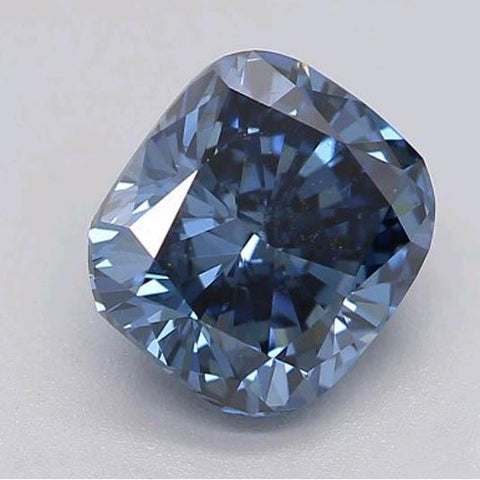 1.21 Ct Deep Blue Cushion Cut Loose Diamond Diamond