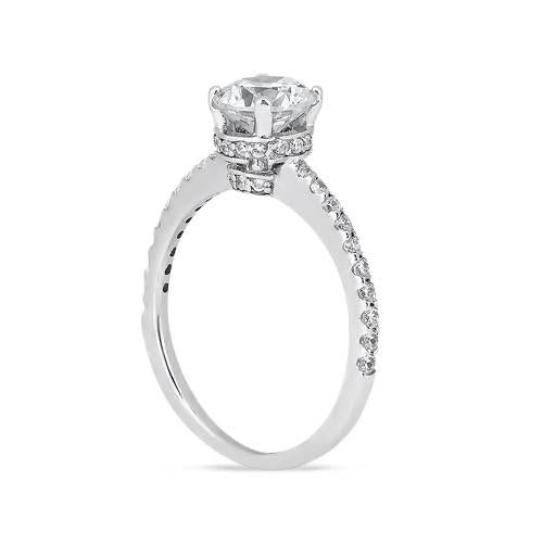 Sparkling 2.69 Carat Round Brilliant Diamonds White Gold 14K Engagement Ring