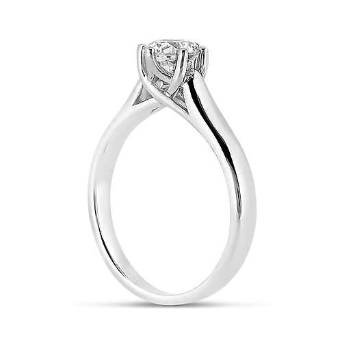 Solitaire Engagement Ring 2.00 Carat Round Brilliant Diamond White Gold 14K