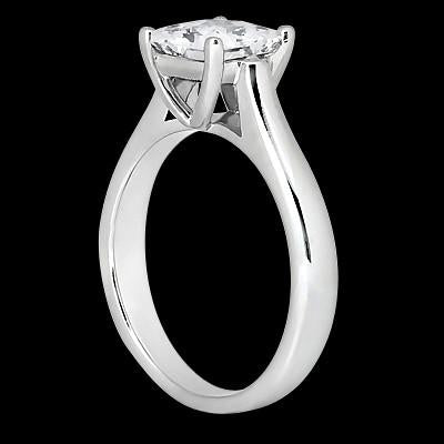Princess Cut 1 Carat Diamond Solitaire Engagement Ring White Gold 14K
