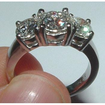 4 Ct.White Gold Genuine Real Diamond Engagement Ring
