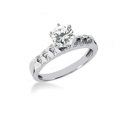 Diamonds Engagement Ring Prong Style Band Set 1.61 Carats