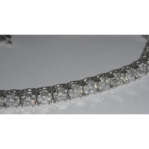 Tennis Bracelet 20 Carat Diamond Tennis Bracelet White Gold 14K Jewelry