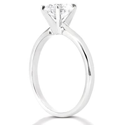1.5 Carat Diamond Solitaire F Vs1 Ring White Gold Jewelry