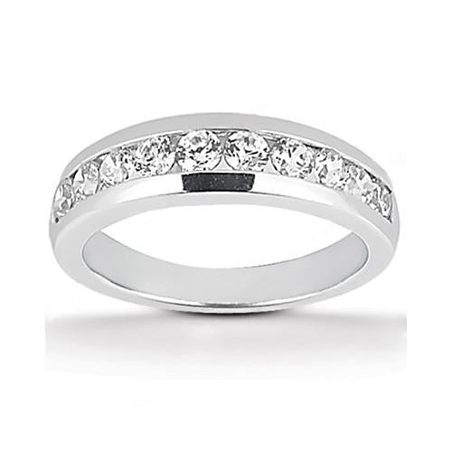 Ring Engagement Band Set Gold 2.11 Ct. Sparkling Diamonds